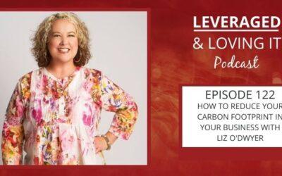 Ep 122. How to reduce your carbon footprint in your business with Liz O'Dwyer